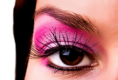 Eye with a make-up close up